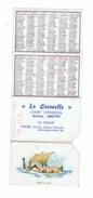 """Petit Calendrier -Boucherie - Centre Commercial """" La Caravelle """"  à NANTES 1971 - Drakkar (fr55) - Calendriers"""