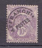 N° 43 Tilmbre Préoblitéré 10 C Violet Type Blanc : Timbre Neuf Impeccable Sans Charnière - Precancels