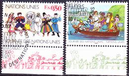 UN Genf  Geneva Geneve - Tag Der UN (MiNr: 158/9) 1987 - Gest Used Obl - Usati