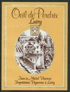 Rare // Etiquette // Oeil De Perdrix De Lutry, Jean Et Michel Dizerens, Lutry, Vaud, Suisse - Etiquettes