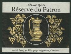 Rare // Etiquette // Pinot Gris, Réserve Du Patron,André Savoy Chexbres, Vaud, Suisse - Etiquettes
