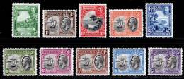 Grenada 1934-1936 MNH/MH Set SG 135/144 Cat £60 - Grenada (...-1974)