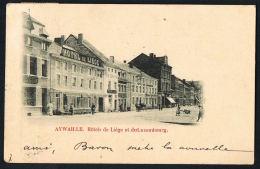 AYWAILLE -BELGIQUE  -Hotel De Liege Et Du Luxembourg  --Original CPA   -Recto Verso- Voyagée 1901   Paypal Sans Frais - Belgique