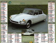 Calendrier Almanach La Poste 2008 Voitures Anciennes Citroën DS 19 1956 Et Renault R3 (prototype 4L) 1961 - Calendriers