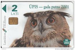 LATVIA - Owl, Exp.date 11/05, Used - Latvia