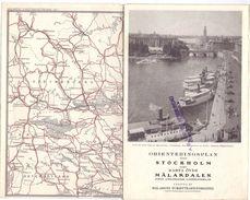 Brochure Dépliant Toerisme Tourisme - Orienteringsplan Stockholm - Malardalen - 1928 - Europe