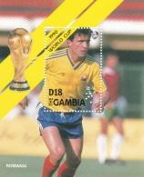 Gambia 1990 Italy FIFA World Cup Football Souvenir Sheet - MNH/**  (H26) - Coupe Du Monde
