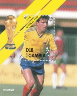 Gambia 1990 Italy FIFA World Cup Football Souvenir Sheet - MNH/**  (H26) - 1990 – Italy
