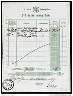 A2086) Württemberg Posteinlieferungsschein Von Mergentheim 15.11.1916 - Wuerttemberg
