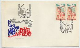 CZECHOSLOVAKIA 1981 Democratic Elections FDC.  Michel 2618 - FDC