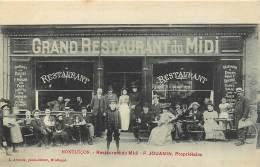 03 , MONTLUCON , Restaurant Du Midi , F Jouanin , CF * 363 83 - Montlucon