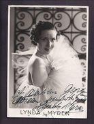 AUTOGRAPHE ET MESSAGE DE LYNDA MYREN ACTRICE CHANTEUSE PHOTO STAR PRESSE - Autographes