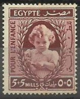 EGMN021 Egypt 1940 Semi Postal 5m.+5m Princess Ferial - Hinged - Egypt