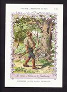 GRAND CHROMO PUBLICITE PHOSPHATINE FALIERES FABLE LE VIEUX ARBRE ET LE JARDINIER Superbe Dessin M. LELOIR Art Nouveau - Trade Cards