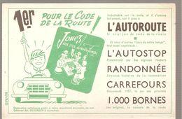 Buvard Dujardin 1er Pour Le Code De La Route 1000 BORNES Jeux L'autoroute (couleur Verte) - Papeterie