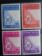 VIETNAM DU SUD 1958  Y&T N° 81 à 84 ** - INAUGURATION DU PALAIS DE L' U.N.E.S.C.O. - Viêt-Nam