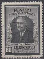 HAITI 1946 Air. Franklin D. Roosevelt - 60c. - Black FU - Haiti