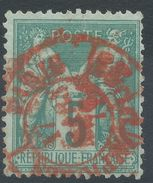 Lot N°38551  N°75, Oblit Cachet à Date ROUGE - 1876-1898 Sage (Type II)