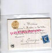 LETTRE EMPIRE 20 C-ARMAND NOUALHIER MAIRE LIMOGES PARIS-CHALUS1858- BESNARD LARIVIERE INSTITUTEUR BUSSIERE GALANT - 1849-1876: Période Classique