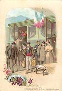 - Chromo - Ref-MA65- Notre Dame D Aiguebelle - Lourdes -  Pyrenees Atlantiques - Le Train Des Malades - L Arrivee - - Other