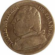 FRANCE. LOUIS XVIII. 5 FRANCS 1.815 PARIS (A). ARGENT - J. 5 Francos