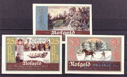 Notgeld, Oberhof, 20 + 25 +50 Pfennig, 1921 (42720) - Lokale Ausgaben