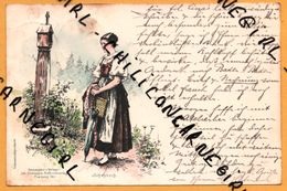 Litho - Schapbach - Femme - Parapluie - Croix - J. ELCHIEPP'S - SCHWARZWALDPOSTKARTE - 1900 - Todtmoos Vers Baden Baden - Bad Rippoldsau - Schapbach