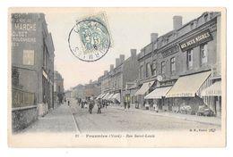 (17233-59) Fourmies - Rue Saint Louis - Animée Commerce - Aux Deux Nègres - Horlogerie - Librairie - Fourmies