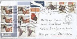 Belle Lettre D'Afrique Du Sud, Adressée ANDORRA, Avec Timbre à Date Arrivée - Lettres & Documents