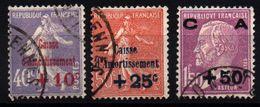 FRANCE - YT N° 249 à 251 - Cote: 85,00 € - Oblitérés
