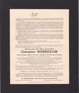 TIRLEMONT COUTRAI Chevalier ROSSEEUW Veuf CRAMPEN 1854-1936 Notaire Notaris Ancien Député - Décès