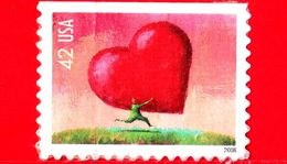 U.S. - USA - STATI UNITI - Usato - 2008 - Cuore - All Heart - Love - 42 - Usados