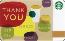 GRECIA GIFT CARD STARBUCKS Thank You  STARB-6080-2010 - Cartes Cadeaux