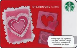 GRECIA GIFT CARD STARBUCKS Valentine's Day  STARB-6083-2012 - Cartes Cadeaux