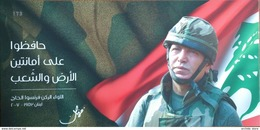 Lebanon 2017 Ltd Ed Special Folder Card FDC, Army Day, General Francois Al-Hajj - Lebanon