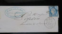 Lettre N° 37 Oblitération étoile De Paris Pleine Juin 1871 - Marcophilie (Lettres)