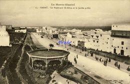 MA - Rabat. - Le Boulevard El-Allou Et Le Jardin Public - 1917 - Rabat