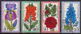 Berlin 1976 MiNr. 524 - 527 O Gest. Wohlfahrt: Gartenblumen ( B 887 ) Günstige Versandkosten - Gebraucht
