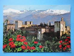 Granada - Andalusia - Spagna - Vista General De La Alhambra Y Sierra Nevada - Castello - Granada