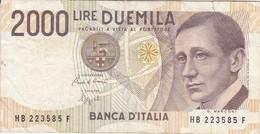 BILLETE DE ITALIA DE 2000 LIRAS DEL AÑO 1990  MARCONI  (BANKNOTE) - [ 2] 1946-… : Républic