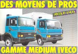 "CAMION - POIDS  LOURD : "" Medium "" IVECO - CPSM GF Postée 1989 - Lorry Truck Lkw Caminhão Lastbil Kuorma-auto - Camion, Tir"