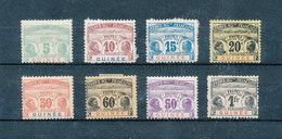 GUINÉE Française 1906 - Timbres Taxe Yvert 8/15 Neufs * Avec Charnières MLH - Guinée Française (1892-1944)
