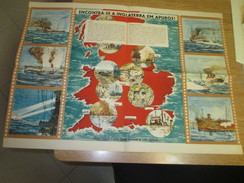 Poster Affiche WWII Deuxieme Guerre Mondiale Europe UK Germany England Battle - Posters