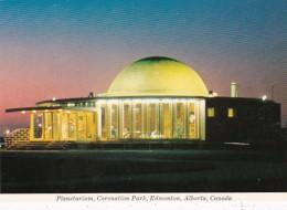 Canada Edmonton Planetarium In Coronation Park At Night - Edmonton
