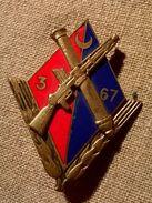 Ancien Insigne 67e Régiment D'artillerie D'Afrique 3e Groupe DRAGO PARIS - Insigne & Ordelinten
