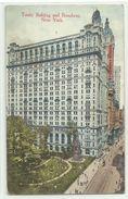 "New York Trinity Building & Broadway 1914 ""U.S. French Sea P.O."" Nach Frankreich - Manhattan"