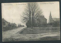 Regniowez (Cul-des-Sarts)  Le Tilleul Et L'Eglise. Voyagée En 1945 - Cul-des-Sarts