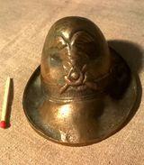 Ancien Bronze Hommage Aux Alpini Italiens Tyrol Bassano Del Grappa - Bronzes