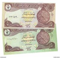 IRAQ 1/2 DINAR 1993 P-78a & 78b 2 TYPES OF COLORS [IQ335a-IQ335b] - Iraq