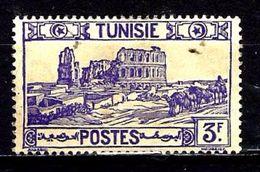 TUNISIE 237° 3f Violet Amphithéâtre D'El Djem - Tunisia (1888-1955)
